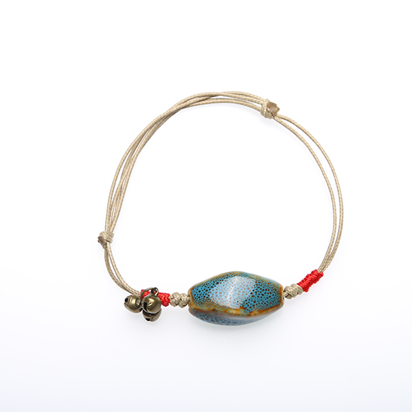 wholesale porcelain bead bangle,eco-friendly ceramic bracelet pressed jewelry bracelet
