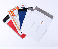 Biodegradable grey recycle plastic patterned mailing bags wholesale