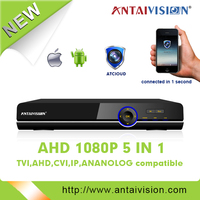 Newest CCTV products 1080P real-time FIVE IN ONE(IP, AHD, TVI, CVI,ANALOG compatible) DVR use for home security