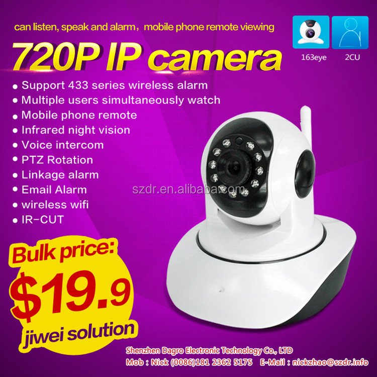 Newest Hot !!! Supporting mobile remote monitoring two-way voice intercom hidden wifi ip camera