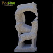 Outdoor Garden Decorative Stone Granite Giraffe Sculpture