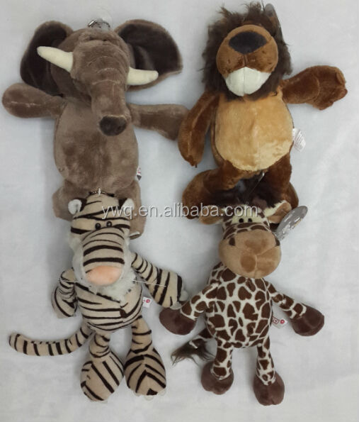 Elephant ,lion ,tiger animals toys /cute forest animals toy /Bow tie bear