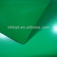 0.8mm PVC Waterproofing Membrane for Outdoor Roof Tent / High Glossy Green PVC Fabric with Acrylic Finish