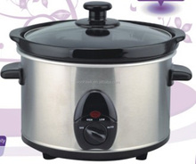 120V/60Hz,160W, 2.5L Black Round Slow Cooker