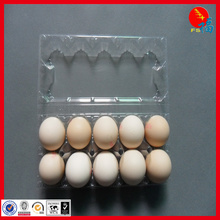 Glass clear egg packing tray in PET food grade material