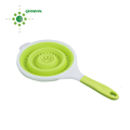 Hot Selling High Quality Food Grade Space Saving Foldable Silicone Strainer