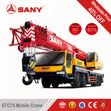 SANY STC75 70 Tons Second Hand Truck Crane Made in 2010 Year Used Mobile Crane