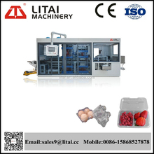 High-speed automatic plastic fruit container multistep thermoforming machine