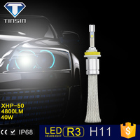 New desgin led h11 led headlight bulb with red copper belt