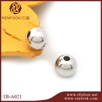 RenFook factory direct sale 925 sterling silver wholesale beads for connection