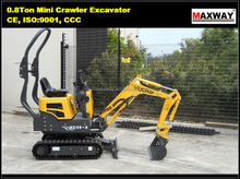 China Made 0.8 ton mini excavator, 0.02 m3 bucket, 7.5 Kw engine , CE / ISO Certificate , Model: YC08-8