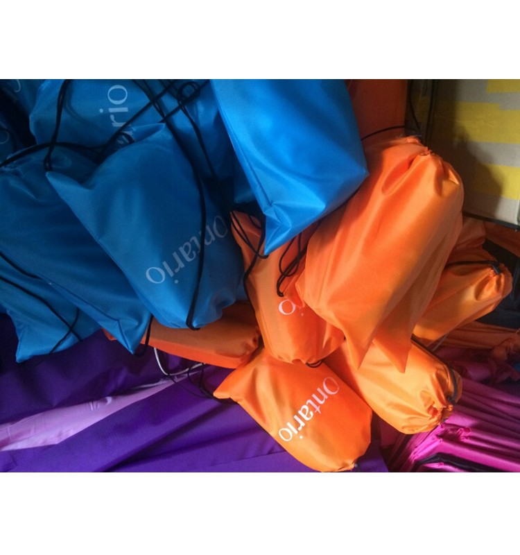 Customized hangout air laybag inflatable sofa, sleeping bag