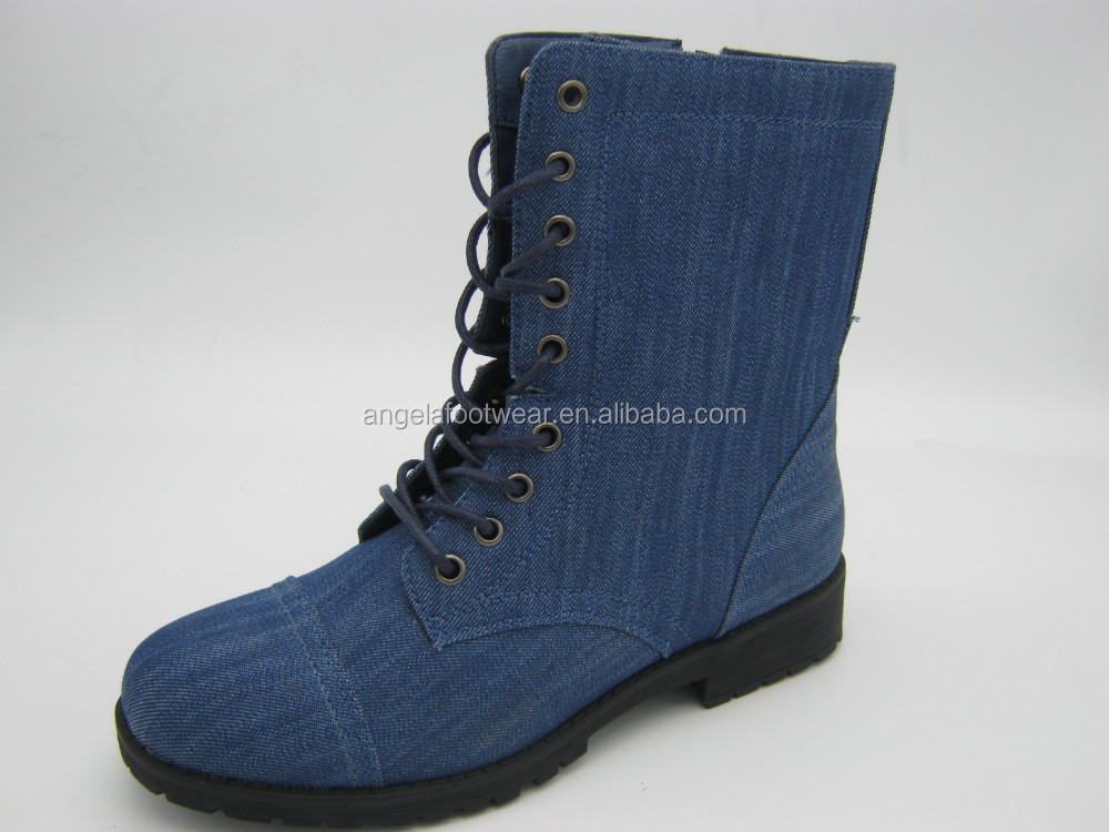 Fashionable safety jeans ankel boots