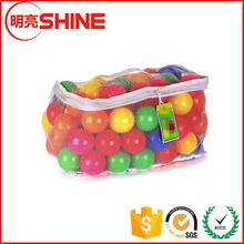 Non-Toxic Free Crush Proof Pit Balls, Red, Orange, Yellow, Green, Blue and Purple 6.5 cm