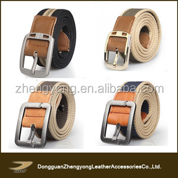 Top sale elastic custom wholesale military canvas belt with pin buckle