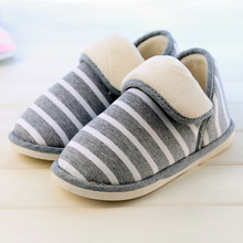 New Design Fashion Durable Stripes Warm Cotton Women Slippers Footwear