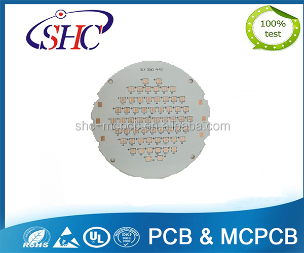 white solder mask copper printed circuit board led pcb