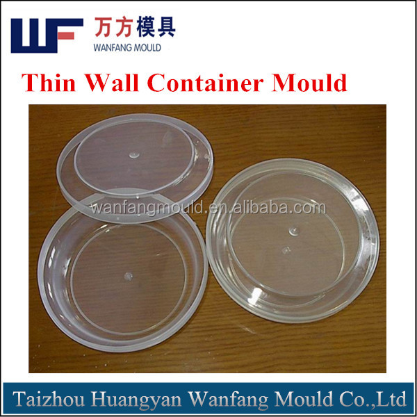 plastic injection thin wall container mould/plastic injection thin wall container molding