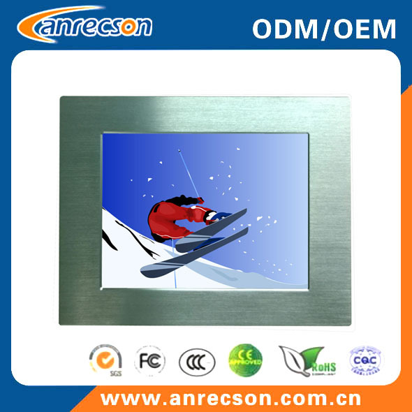 Industrial rugged panel mount IP65 waterproof sunlight viewable LCD monitor 12.1 inch