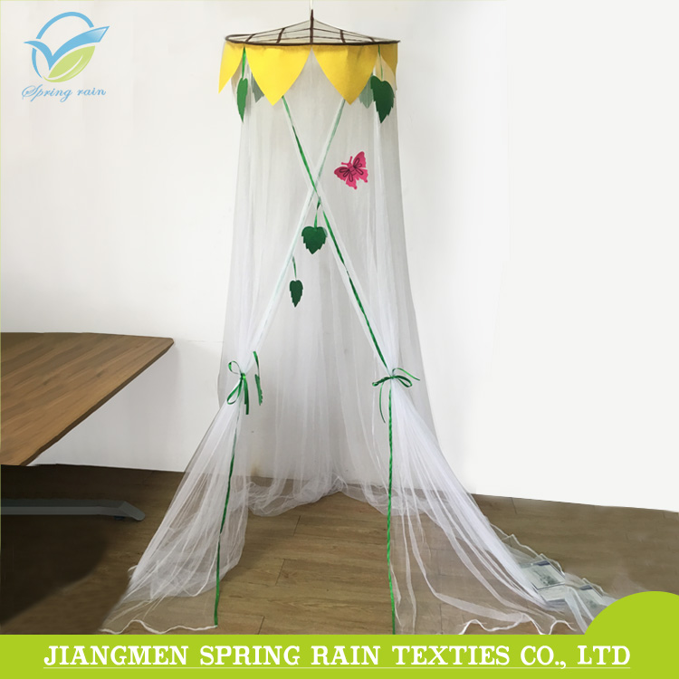 Children bed kids dome mosquito net hanging top bed canopy with sunflower decoration