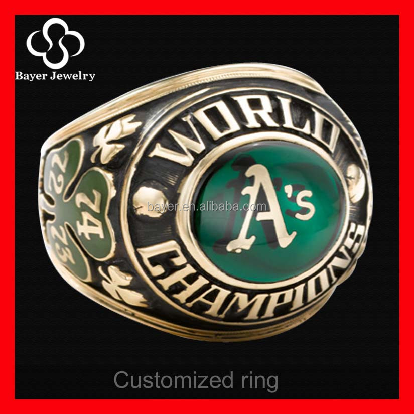 design kids baseball championship rings stainless steel