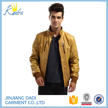 2017 Stylis Slim Fit Men Leather Jacket