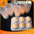New wholesale Rechargeable tea candle 6pcs tea light LED tea light candles
