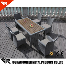 cheap rattan patio set with aluminum frame table 6 chair outdoor garden line patio furniture