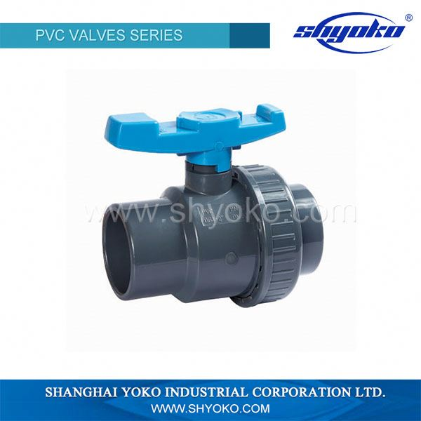 wholesale raw materila black male female plastic pvc single union ball valve price list