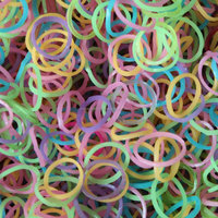 Glow In Dark Rainbow Rubber Band For Bracelets