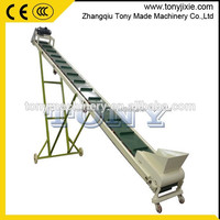 (M) High efficiency very convenient rubber belt conveyor wood sawdust pellet belt conveyor angle belt conveyor