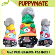 Wholesale bear with ears cute dog clothes /puppy apparel