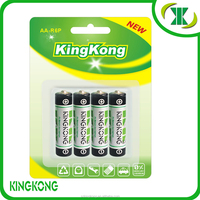 Carbon Zinc Battery R6P/ AA/ UM-3 unrechargeable high quality