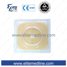 Hydrocolloid flange of colostomy