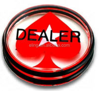 Big Blind\Small Blind Dealer Button fancy plastic buttons for children's clothing