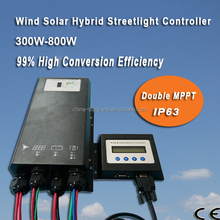 Double MPPT Wind Solar Street Light Controller 600W 24V