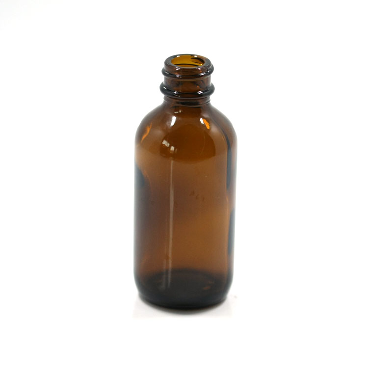 Wholesale 60ml 2oz high quality boston round glass bottle with screw neck