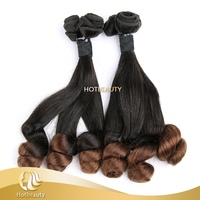 High Quality Wholesale Price 100% Unprocessed Brazilian Human Virgin Hair Funmi Ombre Spring Curl Hair Extension Weaving