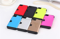 Beautiful colorful mobile phone combo case cover for iphone 4, card holder