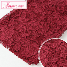 Fashion Jacquard Nice Thick Flower Bridal Wine Cord Lace Fabric