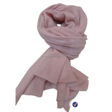 cashmere pink jersey knitting scarf thin and light