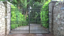 new design modern wrought iron gates automatic entrance gate