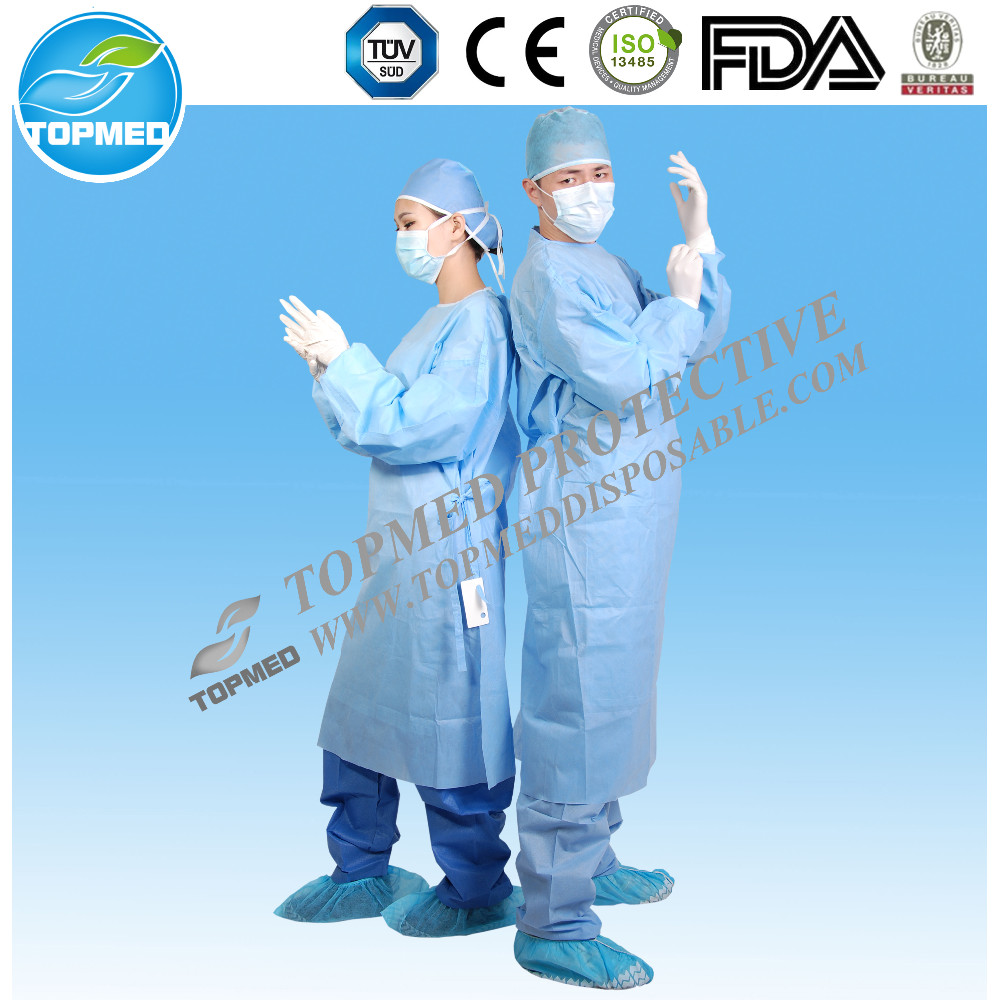 Hot! Operating room sterile disposable surgical gown with hand towel