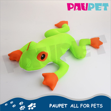 Professional manufacture fashion green plush frog dog pet toy