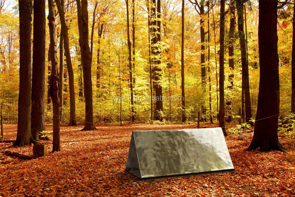 PET Survival Emergency Survival Shelter Tent | 2 Person Mylar Thermal Shelter | 8' X 5' All Weather Tube Tent