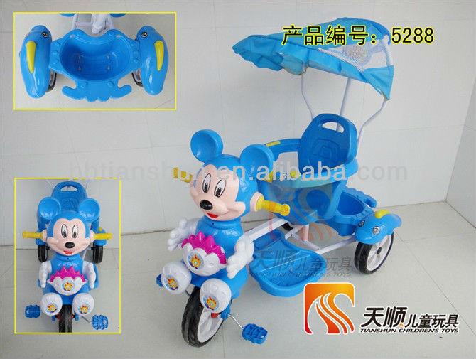 Fashion miniature tricycle with handle bar and umbrella