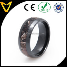 Wholesale Fashion Jewelry In China Titanium Camo Wedding Rings, Dome Black Titanium Camo Ring Wedding Bands, 8MM Comfort Fit