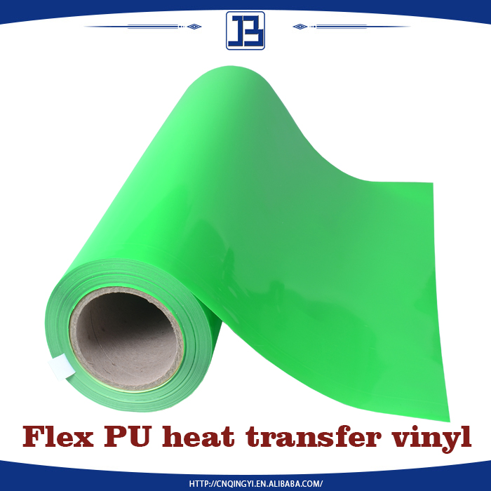 Wholesale Korea quality neon Green PU heat transfer vinyl
