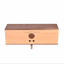 Wholesale BT-653 Wood Grain Retro Bluetooth Speaker with AUX-in/TF Card/USB Interface - Yellow