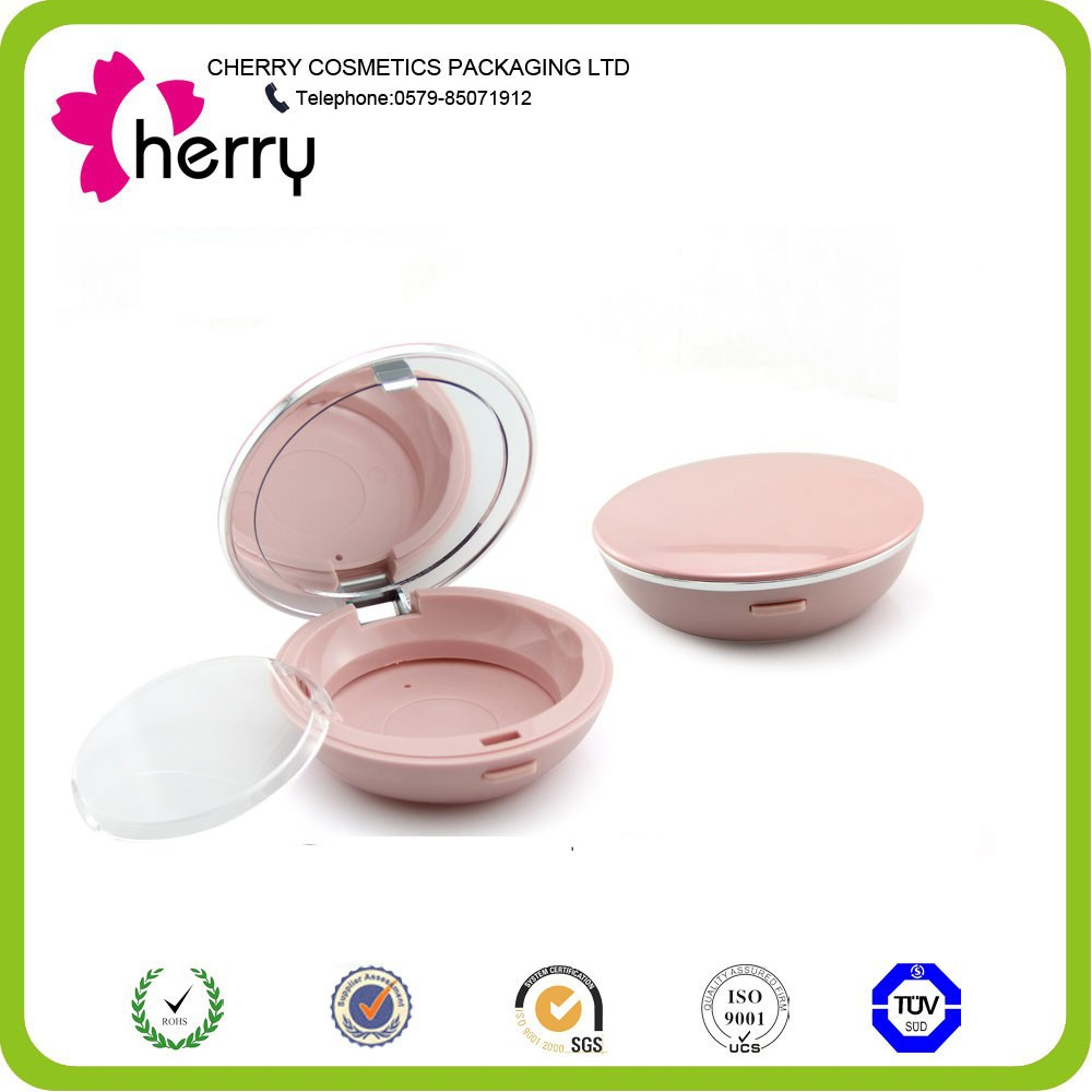 CPC-118 cute pink makeup powder case/ clear plastic cosmetic container